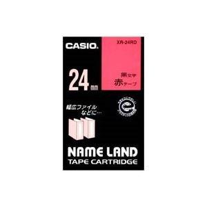 ( お徳用 30セット ) CASIO カシオ ネームランド用ラベルテープ 【幅:24mm】 XR-24RD 赤に黒文字 B01MG0S0CB