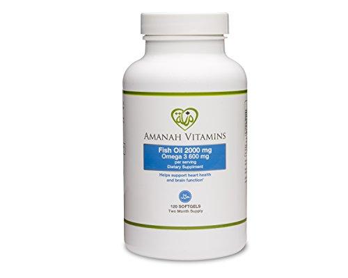 Amanah vitamins omega 3 fish oil 2000 mg halal vitamins for Halal fish oil