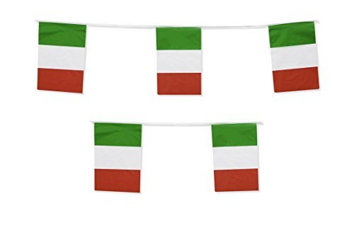 Italy Flag Banner Italian Party Garland by Gabby Fun Corp]()