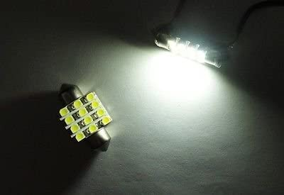 LEDIN 2x WHITE 12 SMD LED Courtesy Light DE3022 DE3175 3021 Festoon 31mm Bulb