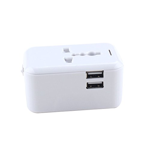 Price comparison product image Universal 2.4 A Worldwide Travel Power Adapter Charger Plug with 2 USB Charging Ports