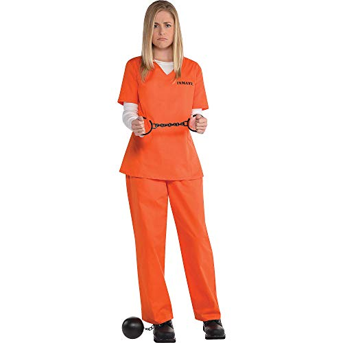 Orange Prisoner Costume for Women, Standard, by Amscan -