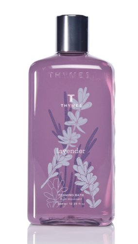 Thymes Liquid Foaming Bath, Lavender, 12.25 -Ounce - Thymes Gift Lavender
