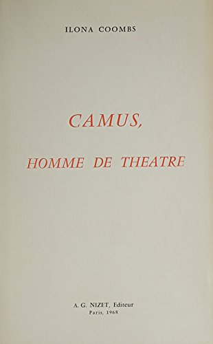 Camus, Homme De Theatre (French Edition) by French & European Pubns
