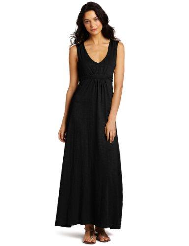 Mod-O-Doc Women's Slub V-Neck Maxi Dress
