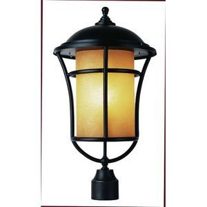 Trans Globe Lighting 5256 WB 1-Light Post Lantern, Weathered Bronze