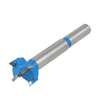 eDealMax punta de carburo Bisagra 19 mm Diámetro herramienta de perforar Broca, Azul Gris