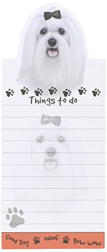 """""""Maltese Magnetic List Pads"""" Uniquely Shaped Sticky Notepad Measures 8.5 by 3.5 Inches"""