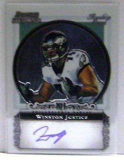 2006 Bowman Sterling #WJ Winston Justice RC Auto NFL Football Trading Card 2006 Bowman Sterling Rc Auto