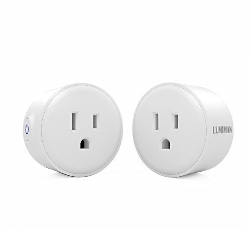 LUMIMAN Smart Plug Home Electrical Outlet WiFi Socket Compatible with Alexa and Google Assistant, Wireless Remote Control Your Devices from Anywhere, No Hub Required, 2 Pack