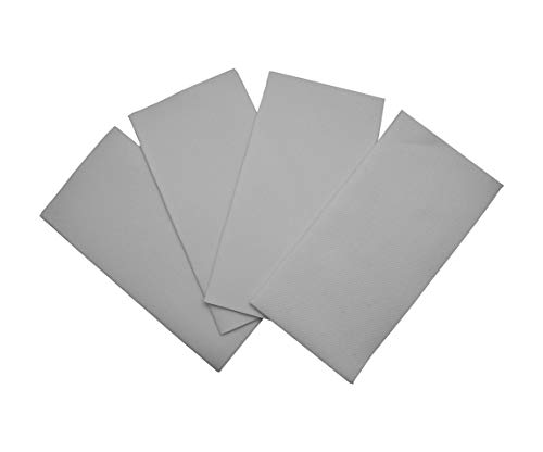 Grey Napkins | Linen Feel Guest Disposable Cloth Like Paper Dinner Napkins | Hand Towels | Soft, Absorbent, Paper Hand Napkins for Kitchen, Bathroom, Parties, Weddings, Dinners Or Events | 50 Pack]()
