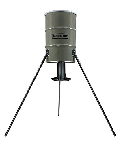 Moultrie Dinner Plate Deer Feeder | 55-Gallon | Gravity Feed |Dispenses feed to up 2.25