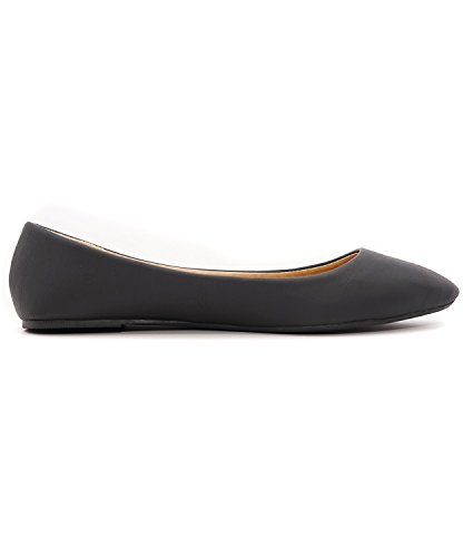 Casual Flats Ballet Soft Toe Albert Slip Charles On Pu Pointed Black Comfort Women's Shoes wZvHcqE