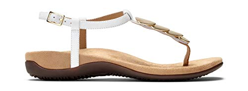 Miami Vionic Rest Women's Toe White Sandal Post rwwEqd