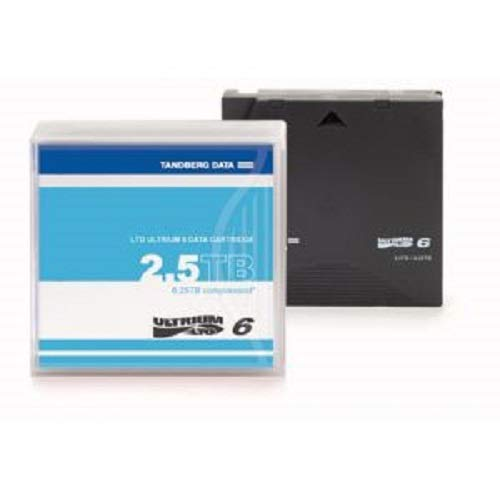 Black Pack of 5 Tandberg LTO-6 2.5//6.25 TB Labelled Overland Storage Cartridges