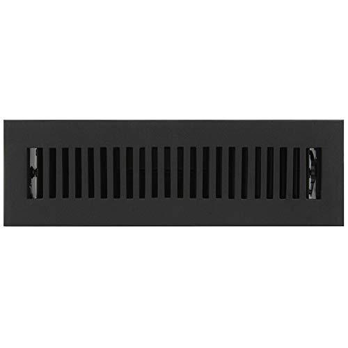 (Signature Hardware 294696 Modern Cast Iron Floor Register - 2-1/4