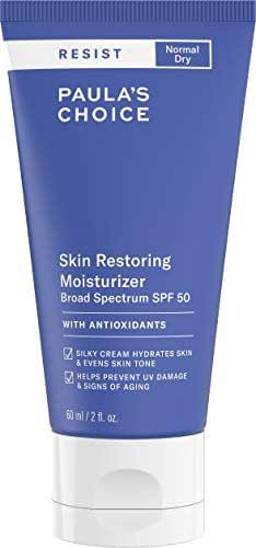 Paula's Choice RESIST Skin Restoring Moisturizer SPF 50, UVA & UVB Protection, Shea Butter & Niacinamide, Anti-Aging Sunscreen for Dry Skin, 2 Ounce