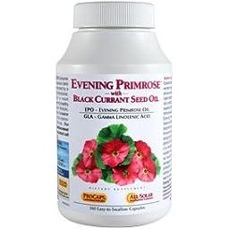 Evening Primrose with Black Currant Seed Oil 180 Capsules