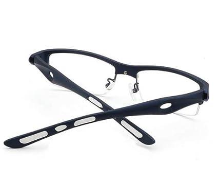 FidgetKute Men Sport Eyeglass Frames Glasses Optical Eyewear Frame Clear Lens Glasses New Brown