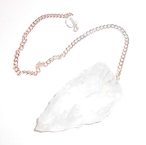 Raw Clear Quartz Gemstone Pendulum by earthegy for Divination and Dowsing