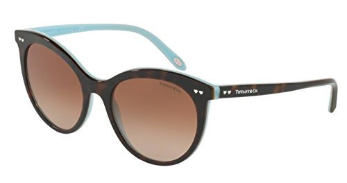 Tiffany 0TF4141-82383B- HAVANA/BLUE 55mm - Heart Tiffany Co &