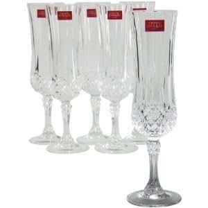 Cristal d 39 arques longchamp flute set of 4 for Arc decoration arques