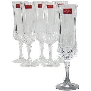 Amazon.com   Cristal D'Arques Longchamp Flute, Set of 4