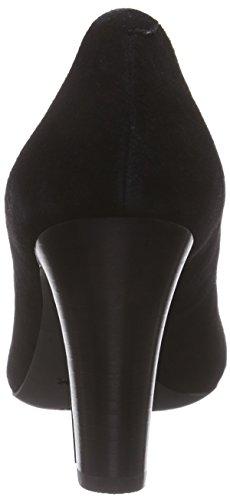Geox D NEW MARIECLAIRE HI - zapatilla deportiva de cuero mujer Schwarz (BLACKC9999)