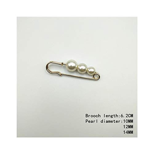 Wholesale Dropship Costumes Jewelry - Simulated Pearl Brooches Pin Dress Rhinestone
