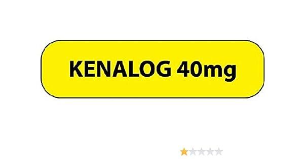 Amazon com: Pharmacy Label KENALOG 40MG Yellow 1-7/16 X 3/8 Inch