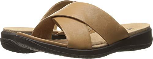 SoftWalk Women's Tillman Tan Soft Nappa Leather Sandal 7 WW ()