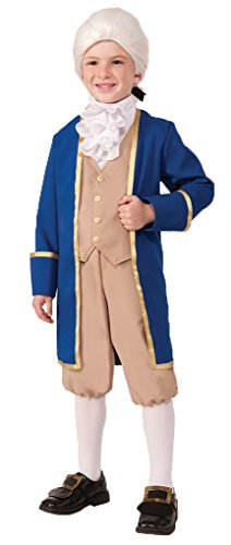 Child size George Washington Costume - Heroes in History - Large 12-14 (Founding Fathers Costumes)