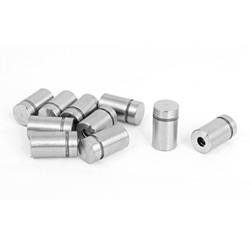 uxcell Stainless Steel Advertisement Screws Glass Standoff 12x20mm 10 Pcs
