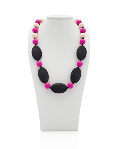teething-necklace-safe-alternate-to-baltic-amber-olivia-wear-tough-pink-jet-black-ivory
