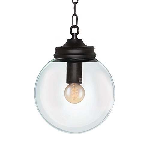 Black Globe Pendant Light - 3