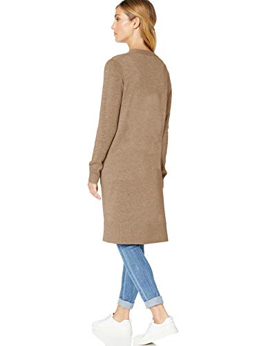 Essentials Cardigan Length Heather Cam camel Beige Longer Amazon CS6wRxx
