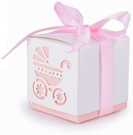 UNKC - 50 cajas portapeladillas para bautizo, nacimiento, cumpleaños, comunión, baby shower (6 x 6 x 6 cm), color azul: Amazon.es: Hogar