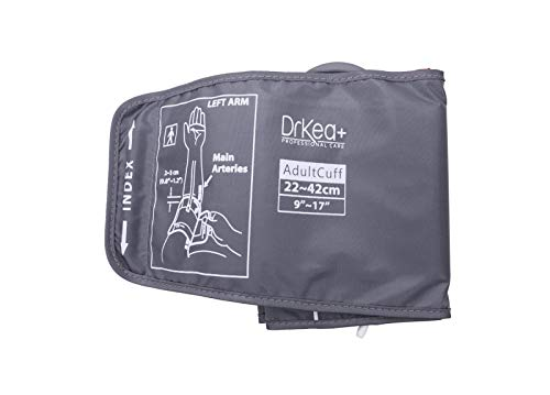 Blood Pressure Upper Arm XL Cuff Strap 9' to 17' - Use with BP Monitors by DrKea - Automatic Blood Pressure Cuff for Extra Large Arm - Arm Cuff Strap Only - Blood Pressure Machine Not Included
