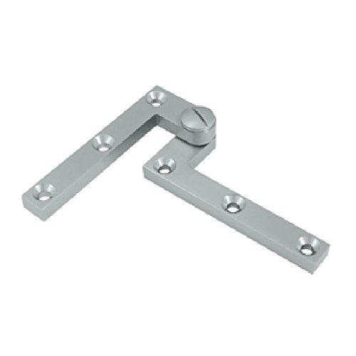 Satin Accessories Hinge Chrome (Deltana PH60U26D Solid Brass 4 3/8-Inch x 5/8-Inch x 3/8-Inch Pivot Hinge)