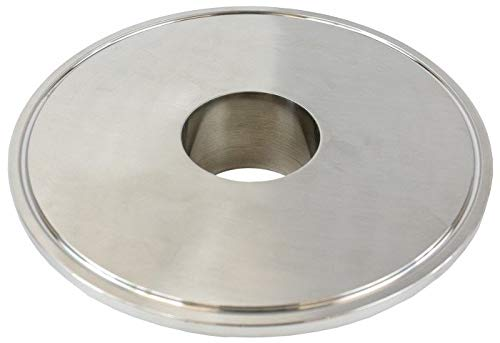 BVV 6 Inch x 2 Inch 304 Stainless Steel Flat Tri-Clamp Reducer