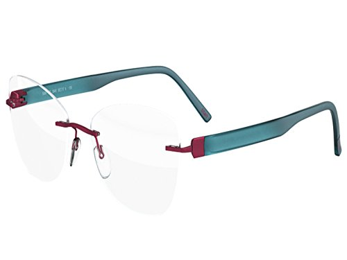 c2a8b0ee6e4 Silhouette Authentic Eyeglasses Since 1964 INSPIRE (royal red turquoise (Silhouette  Eyeglass Frames)