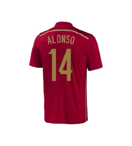 Adidas ALONSO #14 Spain Home Jersey World Cup 2014 YOUTH (YS)