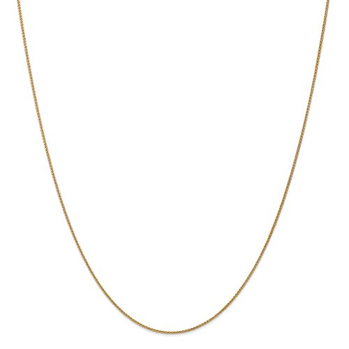 (14k Gold Wheat Chain Necklace with Lobster Clasp (0.9mm) - Yellow-Gold, 30 in)