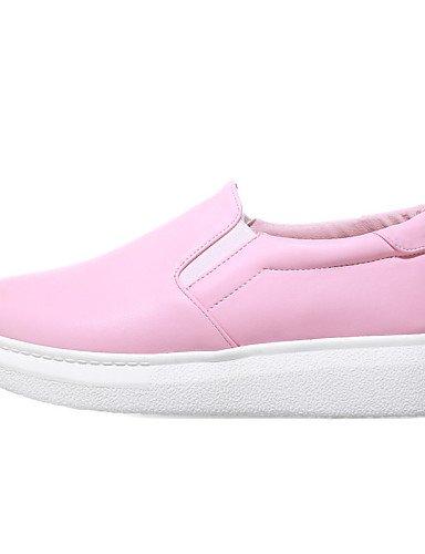 plataforma Creepers Pink Eu42 mocasines Uk4 Zq Eu36 semicuero exterior plataforma Punta 5 5 De Uk8 Cn43 White Mujer Gyht Vestido rosa Cn36 Casual Redonda us10 Blanco us6 Zapatos wFXqXHYa