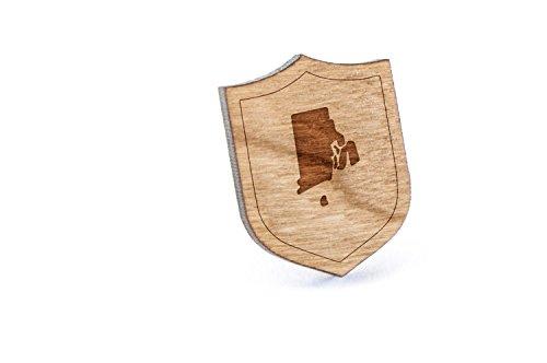 (Rhode Island Lapel Pin, Wooden Pin)