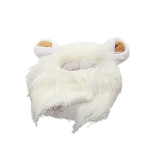 [bouti1583 Pet Dog Costume Fancy Lion Mane Wig Hair Clothes Dress with Ears Small] (Make Lion Costume For Dogs)