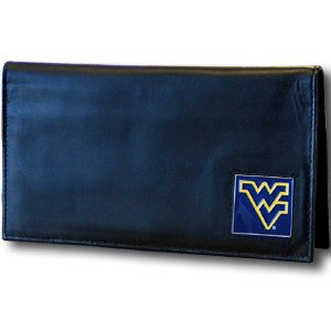 NCAA West Virginia Mountaineers  Leather Checkbook (Virginia Leather Checkbook Cover)
