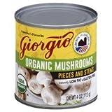 Giorgio Organic Mushrooms Pieces & Stems 4 oz (Pack of 6)