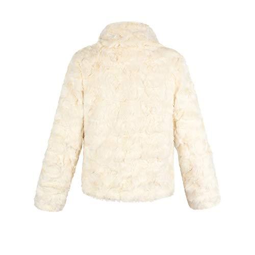 inverno inverno inverno Donne Donne Donne Donne BOBORA Cappotti caldo abbigliamento spessore di Giacche capispalla Finta Beige pelliccia H5Hrwq