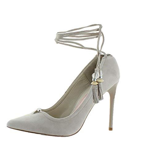Hanna Suede Pointed Toe Dress Heels Beige 9.5 Medium (B,M) ()